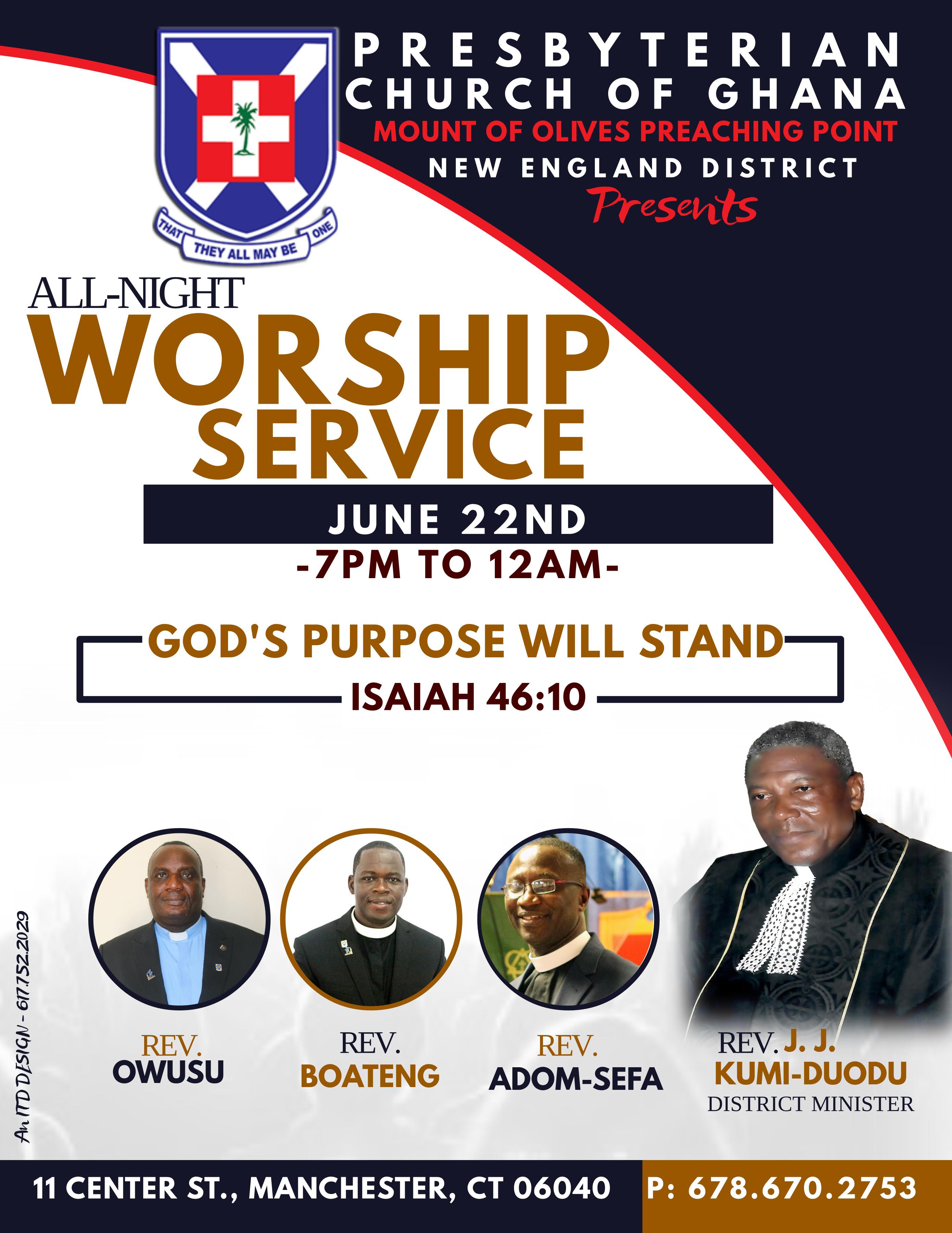 ALL-NIGHT WORSHIP SERVICE