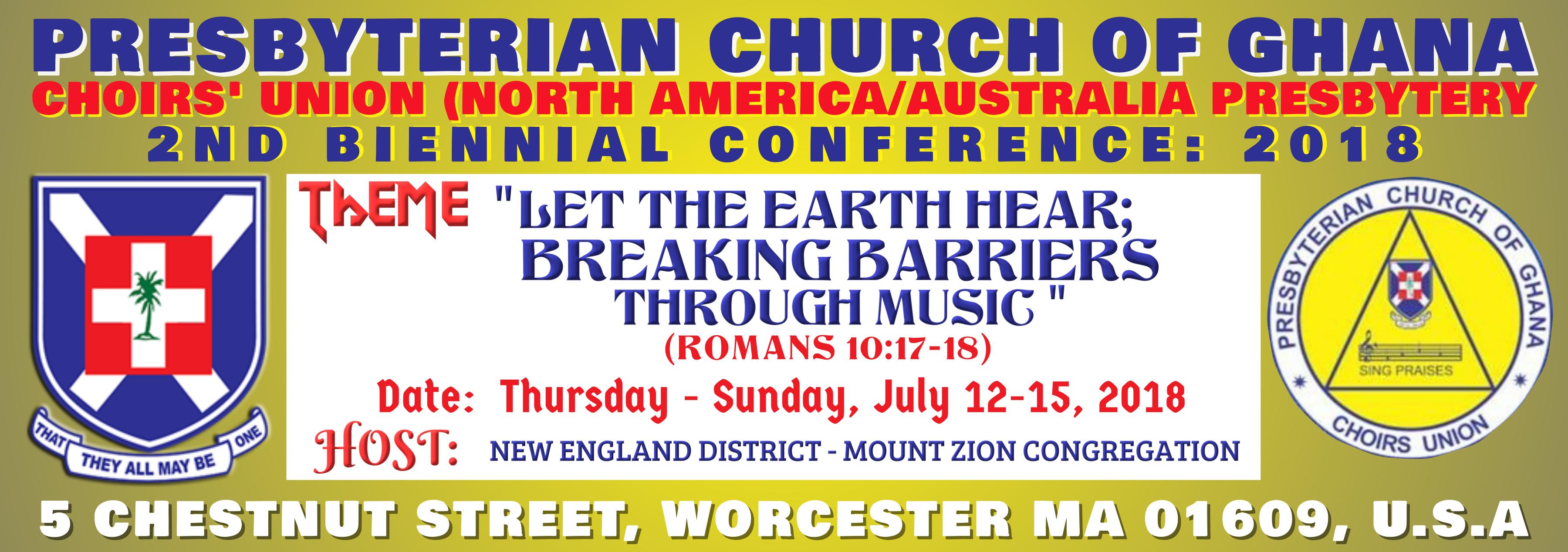 Church Choir's Union 2nd Biennial Conference 2018 - North America & Australia Presbytery