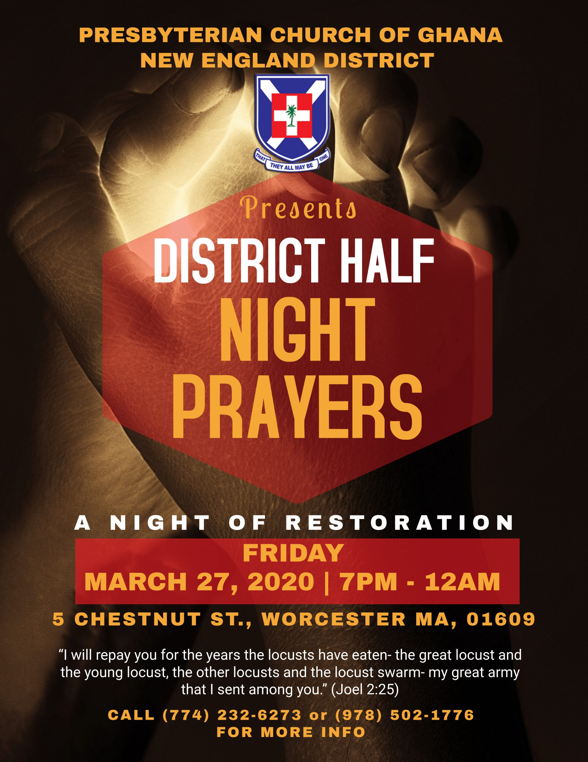 District Half Night Prayers