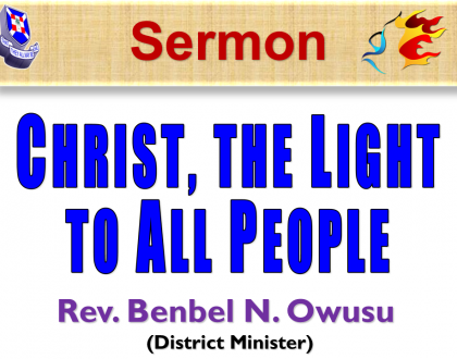 Christ, The Light To All People